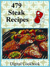 479 Delicious Recipes For Steak E-Book Cookbook CD-ROM