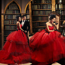NEW Red Sweetheart Wedding Dress Quinceanera Formal Prom Party Pageant Ball Gown