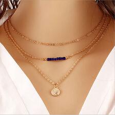 Fashion Jewelry Multilayer Choker Chunky Statement Bib Necklace Pendant Chain