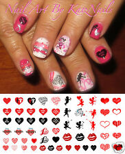Valentines Day Heart Assortment Nail Art Waterslide Decals - Salon Quality!
