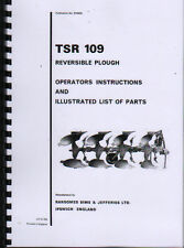 "Ransomes ""TSR 109"" Reversible Plough Instruction and Illustrated Parts Book"