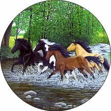 Horse #18 free spirits river Spare Tire Cover Jeep RV Camper Trailer(all sizes)