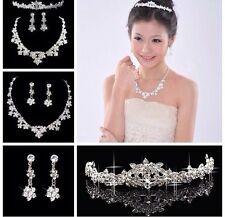 Wedding Jewellery Bridal Necklace Earring Tiara set