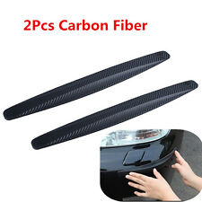 2x Carbon Fiber SUV Car Bumper Anti-rub Strip Exterior Protector Crash Bar Strip