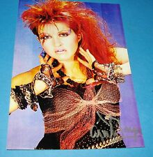 CYNDI LAUPER GENUINE SIGNED AUTOGRAPH 6x4 PHOTO GIRLS JUST WANNA HAVE FUN + COA