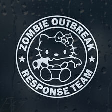 HELLO KITTY Tagliate Mano Zombie Outbreak Response Team Auto Decalcomania Adesivo Vinile