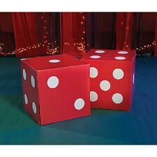 GIANT RED DICE  *  las vegas * casino * party decorations