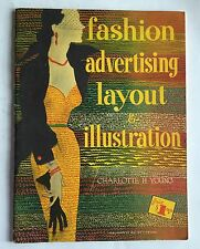 "1950 FASHION ADVG LAYOUT & ILLUSTRATION CHARLOTTE YOUNG DIOR NEW LOOK 10x14"" VG"