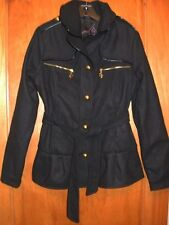 NWOT Baby Phat Black Button & Tie Front Coat Medium But Fits SMALL