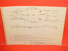 "1955 NASH HUDSON RAMBLER COUNTRY CLUB COUPE WAGON 100"" FRAME DIMENSION CHART"