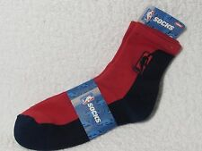 NEW NBA BASKETBALL Logoman Player Crew Socks Mens Large Size RED & NAVY BLUE