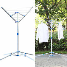 Rotary Washing Line Indoor - Clothes Airer Dryer Rack Foldable Laundry 4 Arm