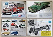 Werbeprospekt Broschüre Hanomag Hannover 1 3/4t Diesel Pritschenwagen um 1950 xz