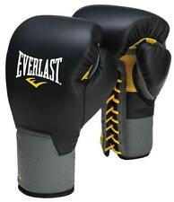 NEW Everlast C3 Leather Pro Laced Boxing Gloves Size: 14 oz. Color: Black