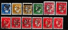 Japanese Occupation Netherland Indies stamps Collection of 12 Ovpt stamps