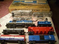 ORIG POSTWAR LIONEL 2346 GP9 B&M 6-UNIT SET #12800 w 5 UNRUN CARS, M/NM/OB 1965