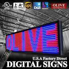 "LED Sign Programmable Scrolling Message Board 12"" x 50"" RBP 3color P15"