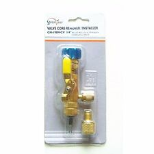 "R134a R22 R410A A/C 19BV-CV 1/4""A/C Valve Core Remover Installer No Gas Loss Kit"