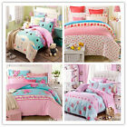 Pink Floral Single/Double/Queen/King Size Bed Quilt/Doona/Duvet Cover Set Cotton