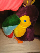 """VINTAGE ACME PREMIUM SUPPLY CORP 1983 LARGE PARROT STUFFED ANIMAL-APPROX. 33"""" L"""