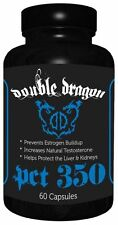 Double Dragon PCT 350  Testosterone Booster Liver Support Estrogen Blocker 60 ct