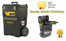 NEW Heavy Duty Stanley Mobile Work Center Tool Box Chest Storage +Trolley Wheels
