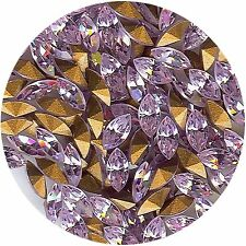 4231 6x3 V *** 15 strass Swarovski NAVETTE FOND CONIQUE 6X3mm VIOLET