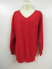 Ladies Womens Ex High Street Pure Cashmere Red Jumper UK 22 T38/0086 CA57