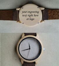 Personalised Gift Wooden Laser engraved wrist watch