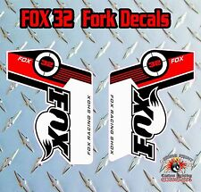 FOX 32 2014 FORK Adesivi Decalcomanie Grafiche MOUNTAIN BIKE DOWN HILL MTB Rosso