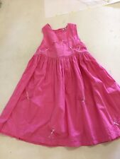 GIRL 2 GIRL Pink Pinafore 100% Cotton sleeveless dress 3-4 years  dragonflies