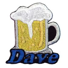 Iron-on Beer Patch With Name Personalized Free