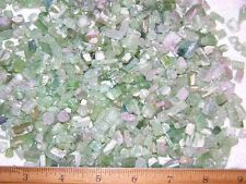 Tourmaline crystal natural green pink lite watermelon 4-15mm 50 carat lots