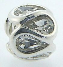 2025-0936 CHAMILIA STERLING SILVER EMBRACE CLEAR SWAROVSKI CHARM NEW & POUCH