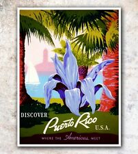 "Puerto Rico Art Travel Poster Wall Decor Print 11x14""  A536"