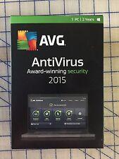 AVG ANTIVIRUS 2015 - 1 USER 2 YEARS - WINDOWS * NEW RETAIL BOX *