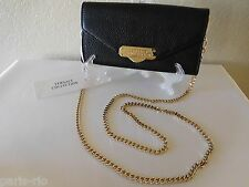 New Versace Collection Black Leather Envelope Wallet-On-Chain