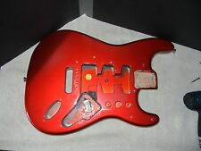 Genuine Fender Standard Stratocaster Strat Project Body MIM Candy Apple Red