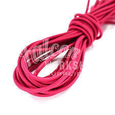 3.0mm x 10m DARK PINK BUNGEE ELASTIC SHOCK CORD, CLOTHING JEWELLRY CRAFTS SEWING
