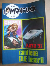 IL MONELLO n°23 1971 Inserto GHIBLI - Pedrito Piccola Eva + Figurine AUTO [G391]