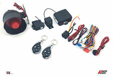 UNIVERSAL CAR SECURITY ALARM SYSTEM  CENTRAL LOCKING AND SHOCK SENSOR + 2 FOBS