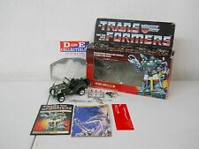 VINTAGE 1984 G1 TRANSFORMERS - AUTOBOT SCOUT HOUND PRE-RUB - BOX 100% COMPLETE