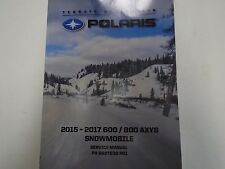 2015 2016 2017 Polaris 600 800 AXYS Snowmobile Service Repair Repair Manual NEW