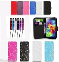 Leather Wallet Flip Case Series for various samsung galaxy phones + screen guard