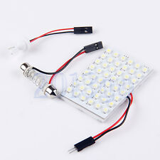 Car Interior Light Panel 48 SMD LED T10 Dome Bulb BA9S Adapter 12V DC CG