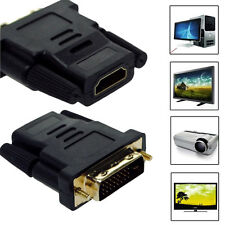 DVI-D Male (24 1 pin) to HDMI Female (19-pin) HD HDTV Monitor Display Adapter