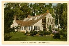 Stone Ridge NY - THE SHOP IN THE GARDEN - Handcolored Postcard Dutch Colonial