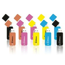 New Integral 8GB Neon USB Flash Drives Memory Stick Thumb Pen 10 Pack