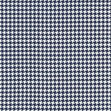 Michael Miller Scottie Houndstooth Fabric in Navy - Blue - dog check - By the FQ