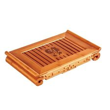 "Blessing Bamboo Gongfu Tea Table Serving Tray 15.16""*8.86"" Serve for 3-4 people"